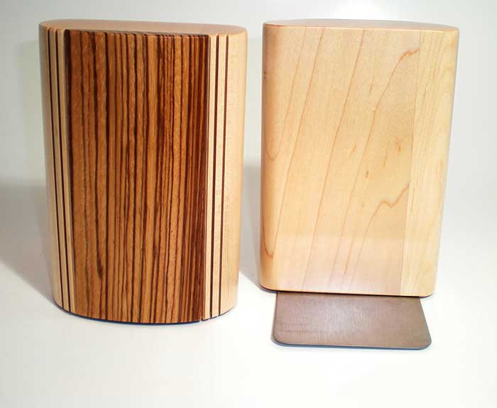 Wooden Bookends by Mikutowski Woodworking | Rendezvous Gallery