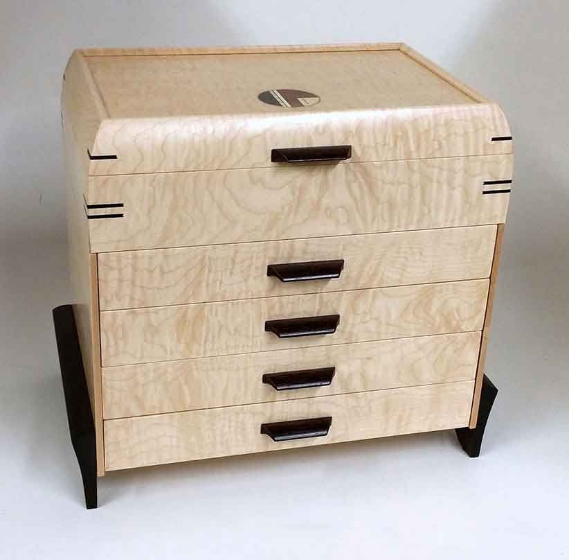 Mikutowski Woodworking: 4-Drawer Jewelry Chest | Rendezvous Gallery