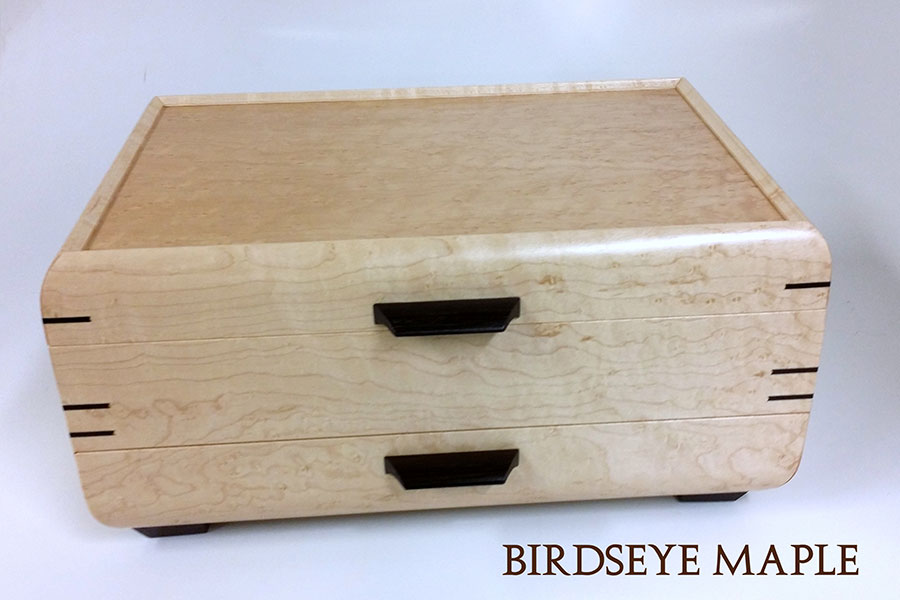 One Drawer Jewelry Chest by Mikutowski Woodworking | Rendezvous Gallery