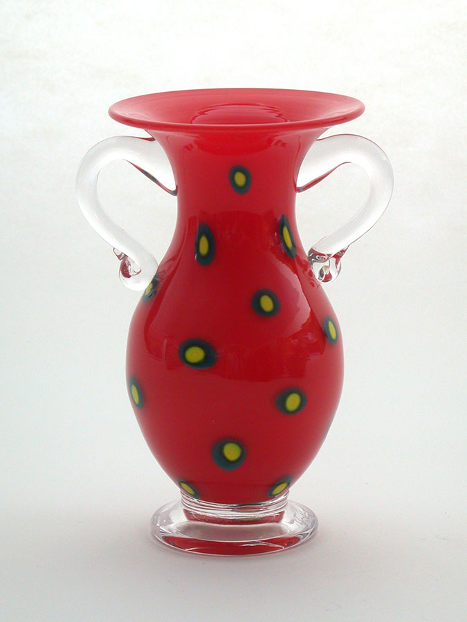 Pinkwater Glass: Small Red Vase | Rendezvous Gallery