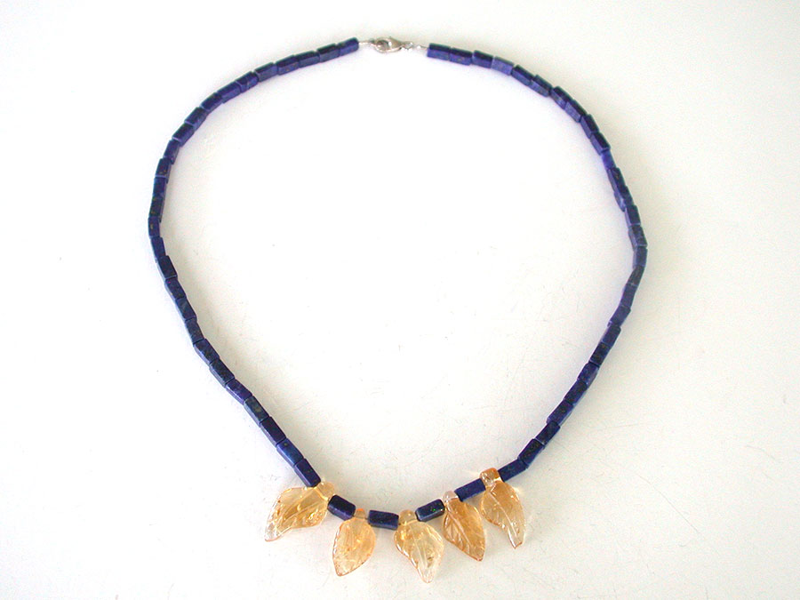 Nance Trueworthy: Lapis Lazuli & Carved Citrine Necklace | Rendezvous Gallery