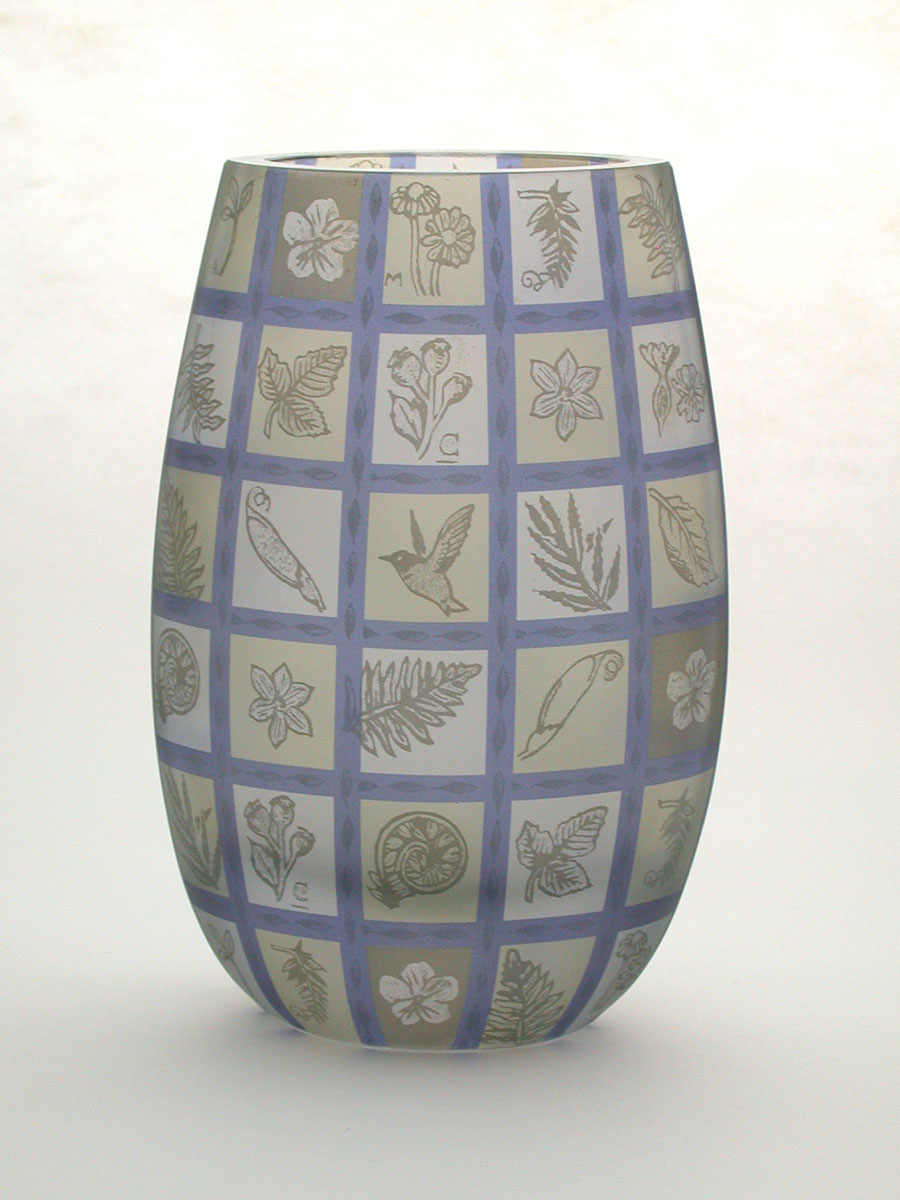 Penelope Wurr: Botanical Oval Vase | Rendezvous Gallery